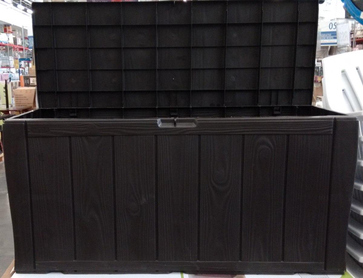 Bau Plástico Keter Textura Semi Madeira R$ 209 99 no MercadoLivre #2C6D94 1200x919