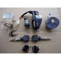 Chave Ignicao Biz 125 Kit Com Trava Magnetica E Trava Do Baú
