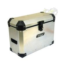 Bauleto Baú Lateral Side Case Alumínio 33 Litros Escovado