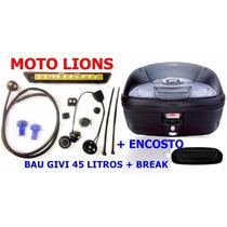 Bau Bauleto Givi 45 Litros E-450n + Break Light + Encosto