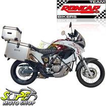 Kit Bauleto Traseiro + Lateral + Suporte Transalp 700 Escova