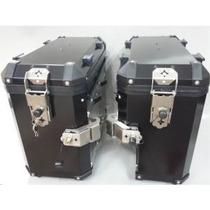 Malas Laterais Aluminio Bmw R1200 Gs 06 A 12 Par + Suportes