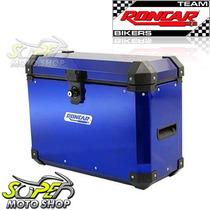 Bauleto Baú Lateral Side Case Alumí 33 Litros Universal Azul