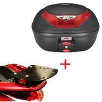 Kit Pcx 150 - Bauleto Givi E350n + Suporte Bagageiro Scam