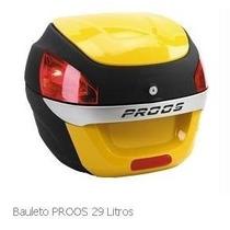 Bau Moto Bauleto 29 Litros Proos Peto E Amarelo