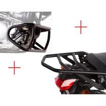 Suporte Bagageiro Baú Tenere 250 + Protetor De Motor Givi