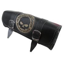 Porta Ferramenta Moto - Harley Caveira Black Couro Tamanho P