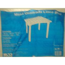 Mesa Plastica Quadrada 85 X 85 Cm