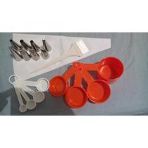 Kit Confeitar Saco 8 Bicos Pincel Xícara Medidora Colher