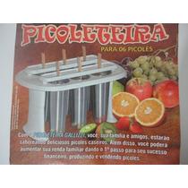 Picoleteira De Aluminio P/6 Picolés Profissional