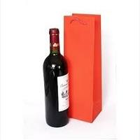 Sacola Papel 01 Garrafa 11x35x9 -c/10 Vermelha Bebida Vinho