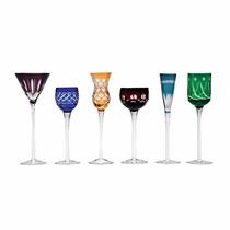 Jogo Com 6 Taças Coloridas P/ Licor Drinks Bon Gourmet -6794