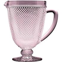 Jarra Garrafa Suco Água Bebida Bico Jaca Rosa 1,5 Litro Luxo
