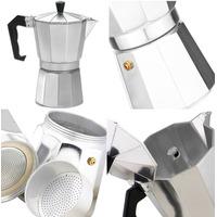 Cafeteira Italiana Em Alumínio Para 9 Cafés 450ml