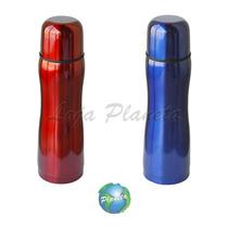 Garrafa Térmica Color 500ml Aço Inox Inquebrável Com Vacuum