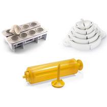 Kit Fábrica Coxinhas + 5 Formas Pastel + Máquina De Churros