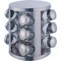 Porta Temperos Condimentos 12 Potes Inox 2757 Mel Presentes