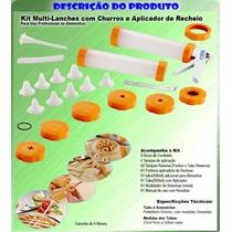 Maquina Churros Biscoito Confeitar Nhoque Rosquinha 19 Pcs