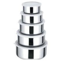 Frete Gratis Kit Conjunto De Potes Em Aço Inox 5 Pçs