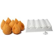 Forma Modeladora Fábrica Coxinhas Salgados - 20 Coxinhas