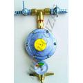 Regulador Registro De Gás Dupla Saída C/ Manômetro + Brinde