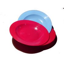 Prato Plastico Otimo Preço Varias Cores Kit Com 100 Unid.