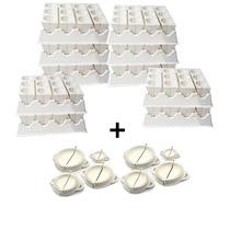 Kit 10 Formas Fábricas De Coxinhas Grandes - 6 Cm X 8 Cm