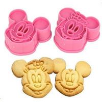 Cortador De Biscoitos Mickey E Minnie - Carimbo 3d - Molde