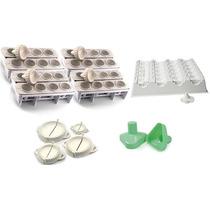 Kit Formas Modeladora Fábrica De Coxinhas Médias E Pequenas
