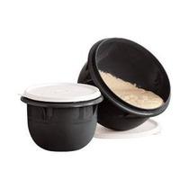 Tupperware Kit Tigela Batedeira Pequena 1l + Média 2l Preta