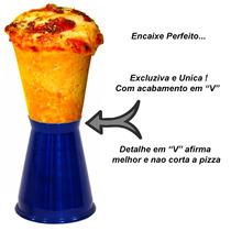 Kit 10 Suportes Pizza Cone Colorido Para Servir *gastrobel