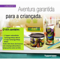 Tupperware Kit Tartarugas Ninja Copo 470ml Redondinha 500ml