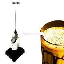 Mini Mixer Batedor Misturador De Bebidas A Pilhas C/ Suporte