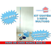 Spin Mop And Go 360 Balde Sem Pedal C / Cabo + 2 Refis Esfre