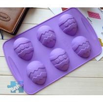 Forma Em Silicone Ovos De Páscoa Chocolate Doces Finos Forno
