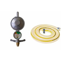 Registro Regulador Válvula Gás Botijão Manômetro C Mangueira