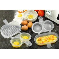 Kit C/2 Formas De Fritar 3 Ovos Para Microondas Sem Gordura