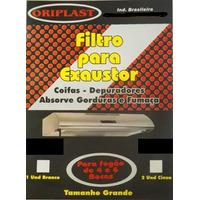 Filtro Para Exaustor, Depurador De 4ou 6 Bocas Branco 02unid