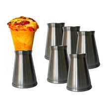 40 Suportes Pizzacone Alumínio Escovado Para Servir