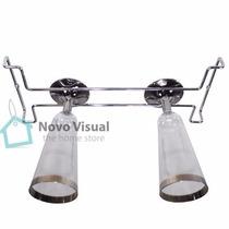 Porta Taças Inox - 42cm