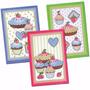 Kit Pano De Copa Prato Sweet Cake Toalha Felpuda 3pçs 45x63