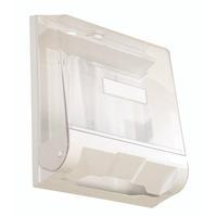 Toalheiro Cristal Acrílico Porta Papel Intefolha Com Chave
