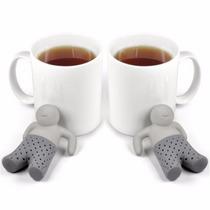 Infusor De Chá Boneco Mr. Tea - Par (2 Peças) Pronta Entrega