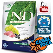 Ração Farmina N&d Canine Maxi Cordeiro E Blueberry 10kg