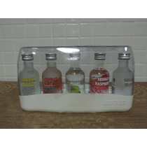 Kit Vodka Absolut Miniatura 50 Ml + Estojo Lacrado