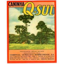 Rótulo De Cachaça, Aguardente, Pinga Q-sul - A1c1