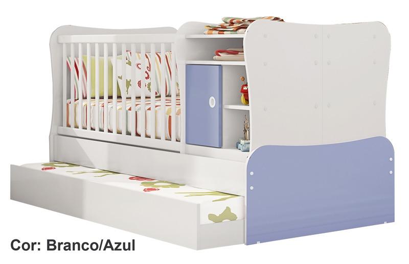 Ber o infantil com trocador com cama auxiliar r 899 00 for Sofa que vira beliche preco
