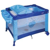Berço Cercado Com Trocador Elevado - Amici Prime Baby Azul