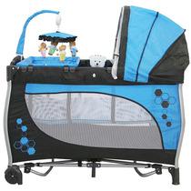 Berço Cercado - Balanco - Portatil - Azul - Baby Style