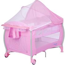 Berço Portátil Nanna Pink Check Burigotto